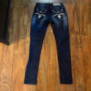 Gorgeous Rock Revival Vicki skinny jeans, like new